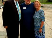 """(l:r) ; Rick Weldon, Frederick County Chamber of Commerce President & CEO; Gail Lee, Poolesville Chamber of Commerce President; and Marilyn Balcombe, Gaithersburg-Germantown Chamber of Commerce President & CEO at the 7th Annual """"Evening of Networking  – Chambers Join Forces"""" on September 12, 2018 at the Comus Inn.   (Photo credit – Laura Rowles, GGCC Director of Events & Marketing)"""